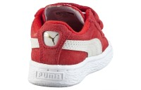 Basket Suede avec 2 sangles pour bebe Couleur high risk red-white