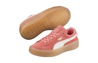 Basket Suede Platform Snake pour fille Couleur Shell Pink-Whisper White