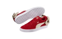 Basket Suede Bow Varsity pour femme Couleur Ribbon Red-Metallic Gold