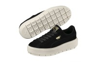 Basket Platform Trace pour femme Couleur Black-Marshmallow-Team Gold