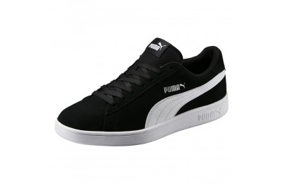 Basket Smash v2 Couleur Black-Puma White-Puma Silver