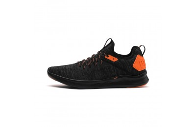 Chaussure de course IGNITE Flash evoKNIT Unrest pour homme Couleur Puma Black-Shocking Orange