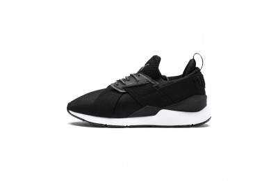 Basket Muse Satin En Pointe pour femme Couleur Puma Black-Puma White
