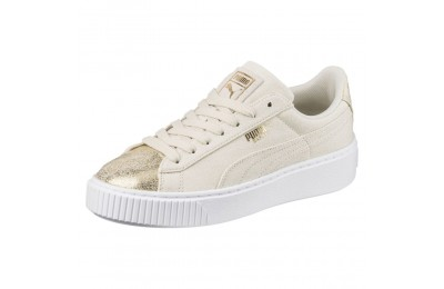Basket Platform Canvas pour femme Couleur Birch-Puma Team Gold
