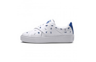 Basket PUMA x SHANTELL MARTIN Platform Slip-On Couleur Puma White-Nebulas Blue