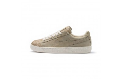 Basket Suede Made in Italy pour femme Couleur Birch-Puma Team Gold