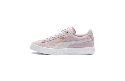 Basket Suede Preschool pour enfant Couleur Pink Lady- White-P.T. Gold