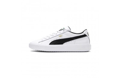 Basket Breaker Leather Couleur Puma White-Puma Black