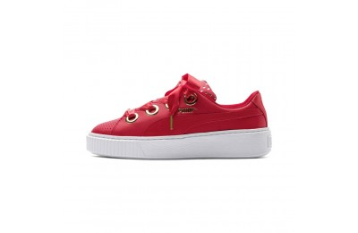 Chaussure Basket Platform Kiss Ath Lux pour femme Couleur Ribbon Red-Ribbon Red