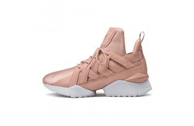 Basket Muse Echo Satin pour femme Couleur Peach Beige-Puma White