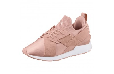 Basket Muse Satin En Pointe pour femme Couleur Peach Beige-Puma White
