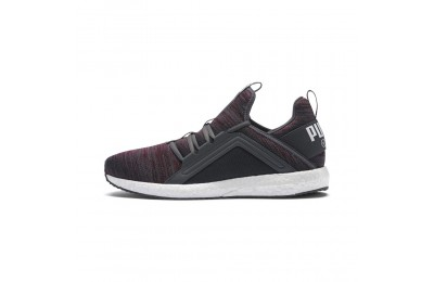 Chaussure de course Mega Energy Heather Knit pour homme Couleur Iron Gate-Pomegranate-White