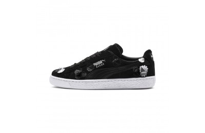 Basket Suede Classic Autumn Bloom pour femme Couleur Puma Black-Puma Black