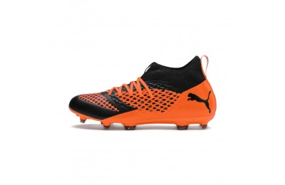 Chaussure de foot FUTURE 2.3 NETFIT FG/AG Couleur Puma Black-Shocking Orange