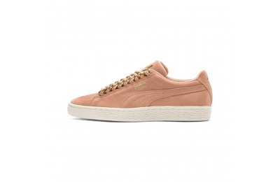 Basket Suede Classic chains pour femme Couleur Dusty Coral-Puma Team Gold