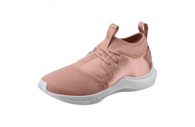 Phenom Low Satin En Pointe pour femme Couleur Peach Beige-Puma White