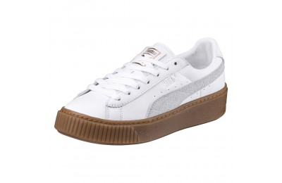 Basket Platform Euphoria Gum Couleur Puma White-Rose Gold
