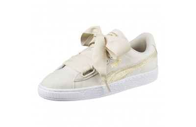 Basket Heart Canvas pour femme Couleur Birch-Puma White-Gold