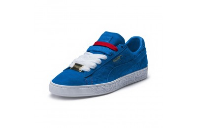 Basket Suede Classic PARIS Couleur Electric Blue Lemonade