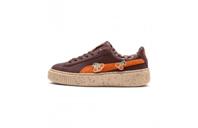 Basket PUMA x TINYCOTTONS Basket Platform LDN pour enfant Couleur Chocolate-Orange-Appleblm