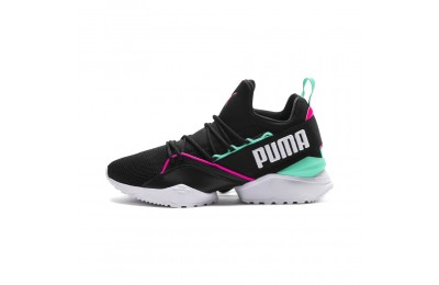 Basket Evolution Muse Maia Street 1 pour femme Couleur Puma Black-KNOCKOUT PINK