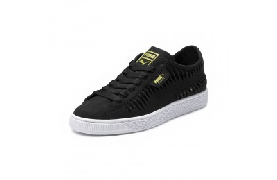 Basket Suede Meatllic Entwine pour femme Couleur Puma Black-Puma Team Gold