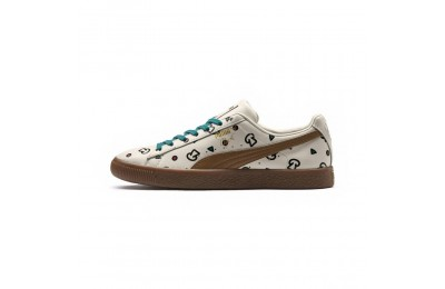 Basket PUMA x TYAKASHA Clyde Graphic Couleur Birch