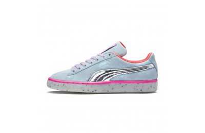 Basket Suede Candy Princess PUMA x SOPHIA WEBSTER pour femme Couleur Corydalis Blue-Puma Silver