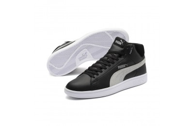 Chaussure montante Smash v2 Mid PureTEX Couleur Puma Black-Quarry-Puma White