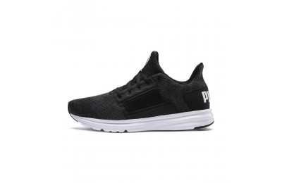 Basket Enzo Street Knit Interest pour homme Couleur Puma Black-Puma White