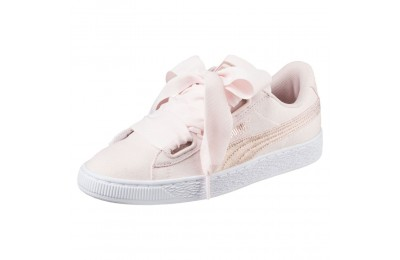 Basket Heart Canvas pour femme Couleur Pearl-Puma White-Rose Gold