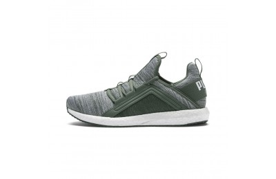 Chaussure de course Mega Energy Heather Knit pour femme Couleur Laurel Wreath-Puma White
