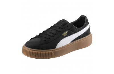Chaussure Basket Platform Couleur Puma Black-Puma White-Gold