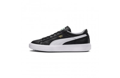 Basket Breaker Leather Couleur Puma Black-Puma White