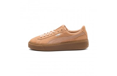 Basket Suede Platform Animal pour femme Couleur Dusty Coral-Puma Silver
