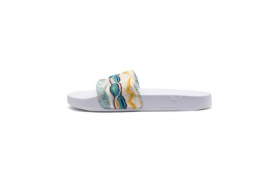 Chaussure de bain PUMA x COOGI Leadcat Multi Slide Couleur Puma White-Gold