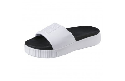 Platform Slide Wns Couleur Puma White-Puma Black