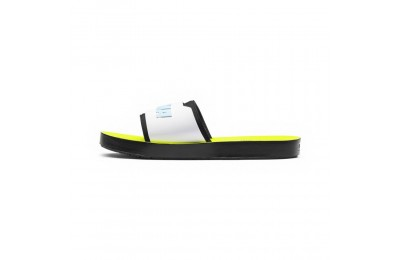 Sandale FENTY  Surf Slide pour femme Couleur Puma Black-White-Yellow
