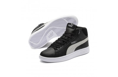 Smash v2 Mid PureTEX Kinder High-Tops Couleur Puma Black-Quarry-Puma White