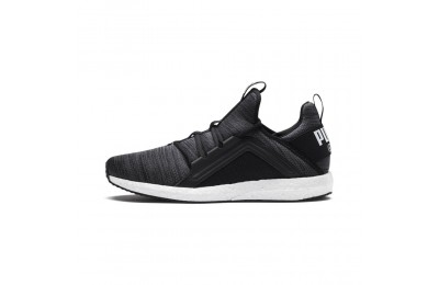 Chaussure de course Mega Energy Heather Knit pour homme Couleur Puma Black-Iron Gate-White