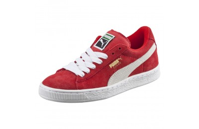 Basket Suede Jr. Couleur high risk red-white