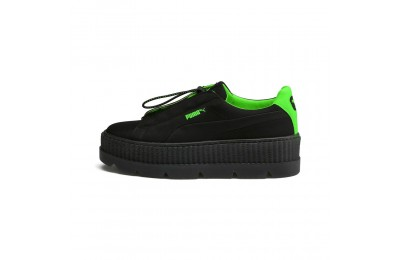 Cleated Creeper Surf FENTY pour femme Couleur Puma Black-Green Gecko-Black