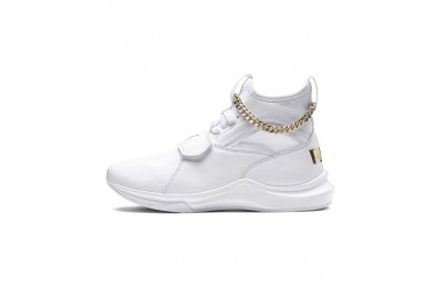 Basket Phenom Lux pour femme Couleur Puma White-Puma Team Gold