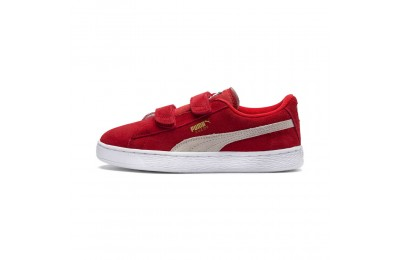 Basket Suede à 2 sangles pour enfant Couleur High Risk Red-Puma White