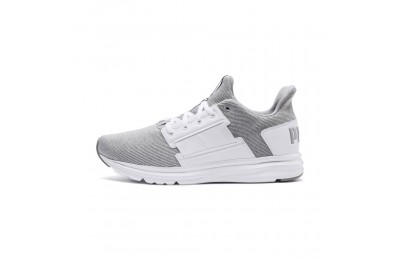 Basket Enzo Street Knit Interest pour homme Couleur Puma White-Quarry