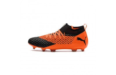 Chaussure de foot FUTURE 2.2 NETFIT FG/AG Couleur Black-Orange