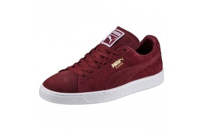 Basket Suede Classic+ Couleur cabernet-white-team gold