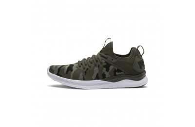 Chaussure de course IGNITE Flash Camo pour homme Couleur Forest-Laurel Wreath-Black