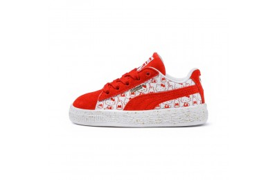 Basket PUMA x HELLO KITTY Suede pour enfant Couleur Bright Red-Bright Red