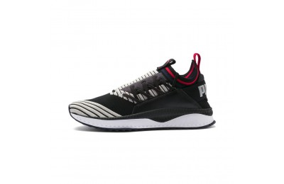 Basket TSUGI Jun Sport Stripes Couleur Black-Gray Violet-Ribbon Red